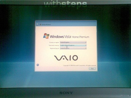 Restore a Sony Vaio PC to its factory settings - withsteps.com