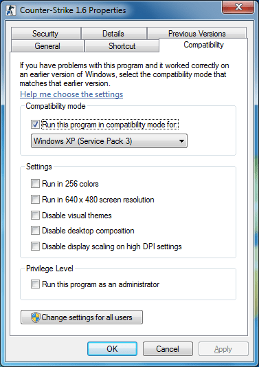 copatibility windows xp sp3