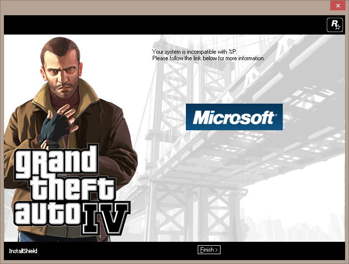 GTA IV incompatible